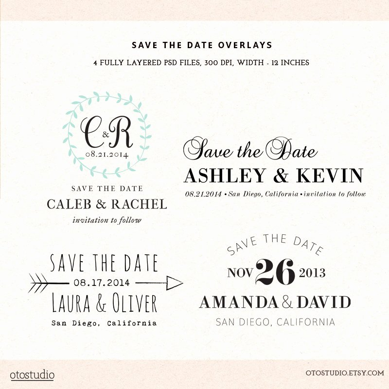 Save the Date Photoshop Templates Best Of Digital Save the Date Template Overlays Wedding Photoshop