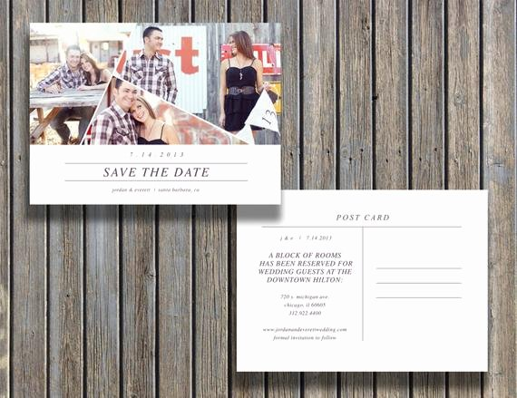 Save the Date Photoshop Templates Best Of Instant Download Save the Date Vintage Postcard Template 5x7