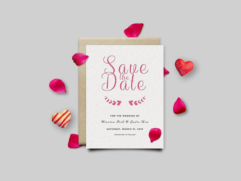 Save the Date Photoshop Templates Best Of Save the Date Invitation Card Psd by Graphicsfuel Rafi