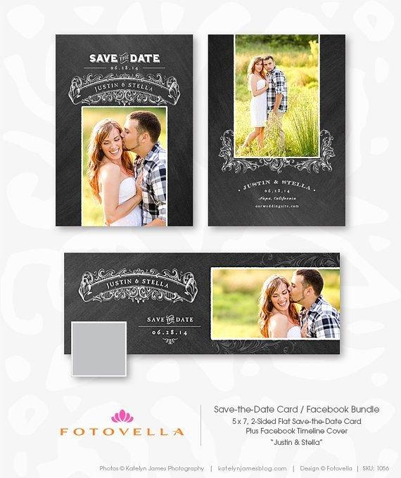 Save the Date Photoshop Templates Elegant Save the Date Shop Template Bundle Cover