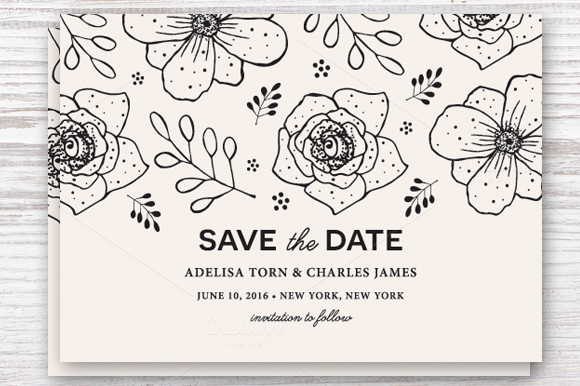 Save the Date Photoshop Templates Elegant Save the Date Template Eps & Jpg Invitation Templates On