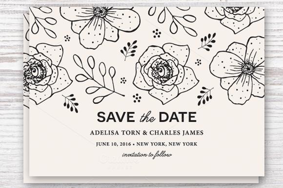 Save the Date Photoshop Templates Elegant Save the Date Template Eps & Jpg Invitation Templates On