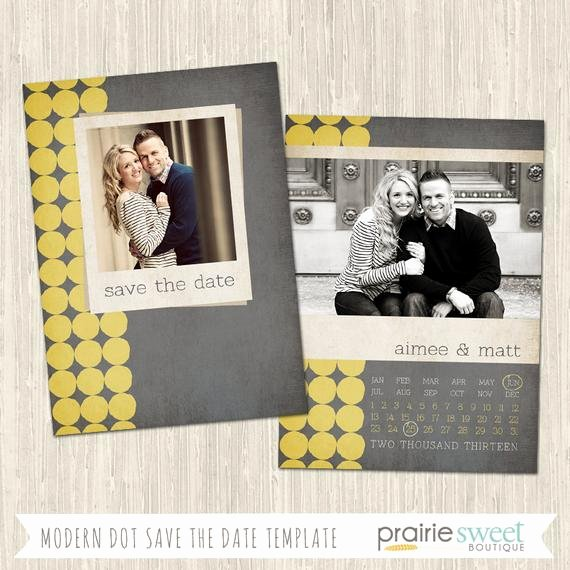 Save the Date Photoshop Templates Fresh Modern Dot Save the Date Shop Template for Professional