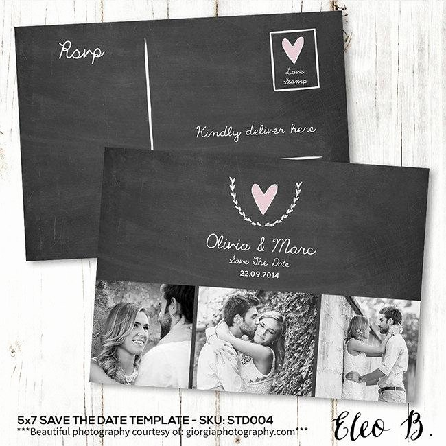save the date postcard save the date template wedding invitation engagement card photoshop template std004 instant
