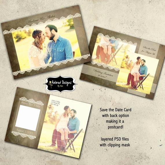 Save the Date Photoshop Templates Lovely Items Similar to Save the Date Instant Download