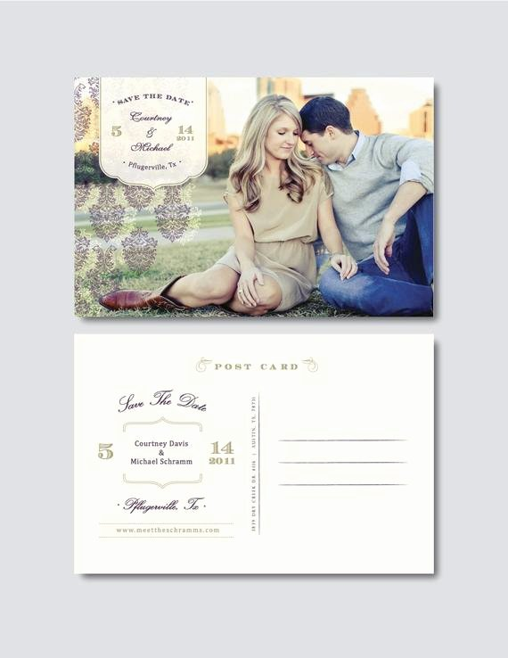 Save the Date Photoshop Templates Lovely Vintage Save the Date Postcard Template Digital Shop