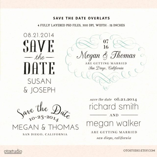Save the Date Photoshop Templates Luxury Shop Save the Date Overlays Wedding Cards Psd