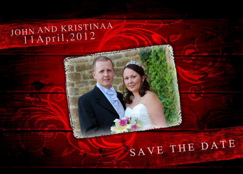 Save the Date Photoshop Templates Luxury Wedding Album Design