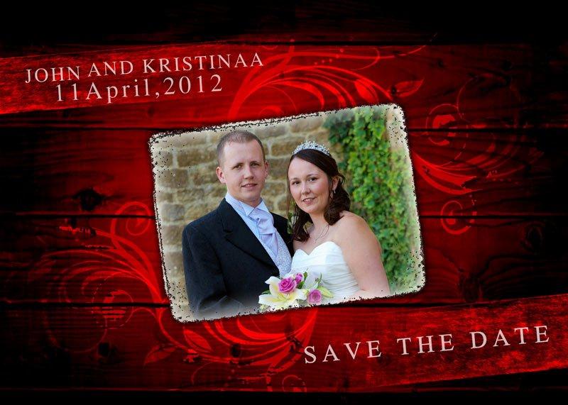 Save the Date Photoshop Templates Luxury Wedding Album Design