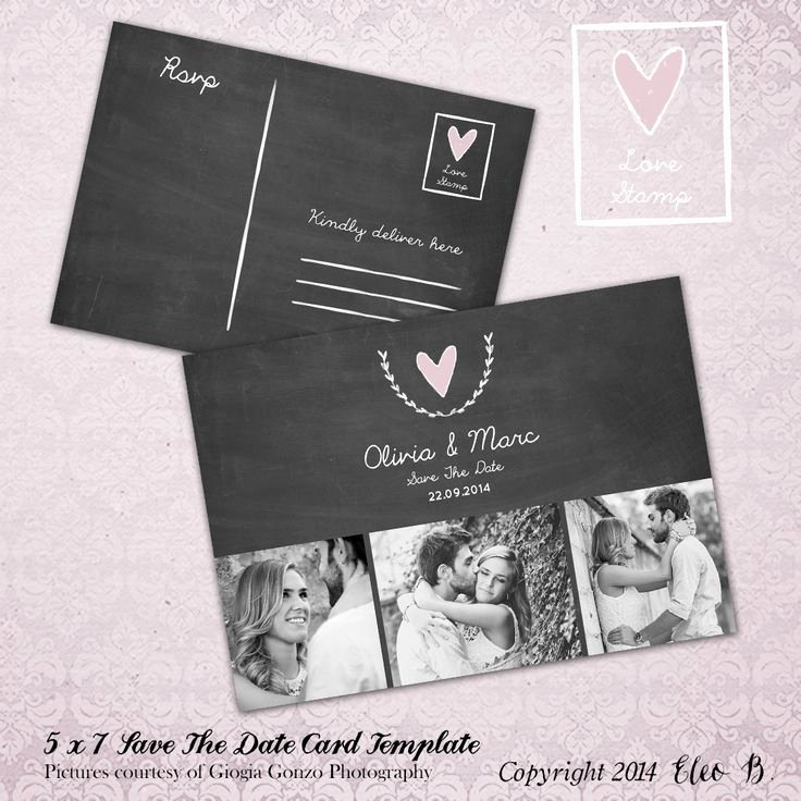 Save the Date Photoshop Templates New Save the Date Postcard Save the Date Template Wedding