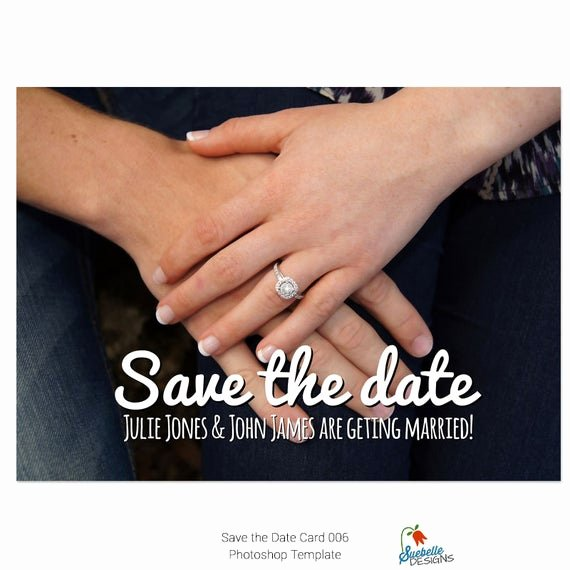Save the Date Photoshop Templates New Save the Date Shop Template 006 From Suebelledesigns