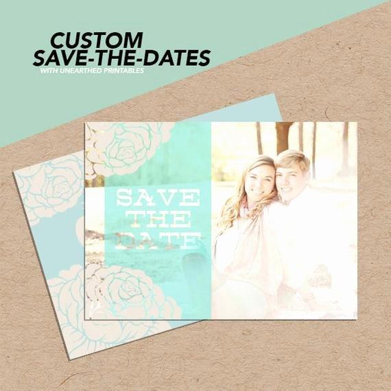 Save the Date Photoshop Templates New Seafoam Bliss Shop Save the Date Template for