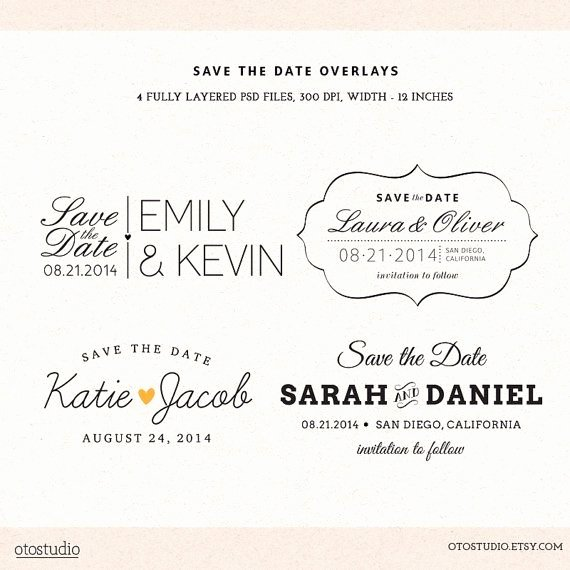 Save the Date Photoshop Templates New Shop Save the Date Overlays Wedding Photo Cards Psd