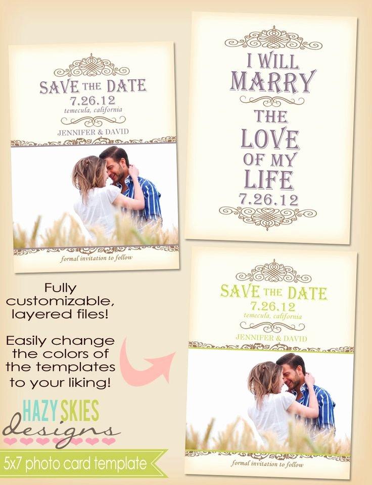 Save the Date Photoshop Templates Unique 5x7 Postcard Template