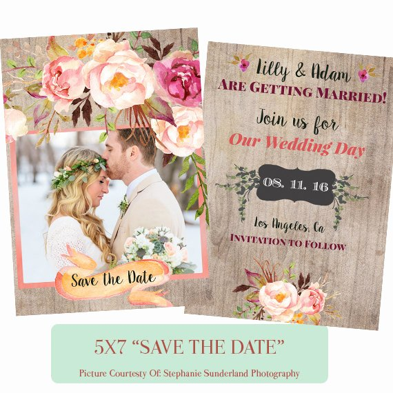 Save the Date Photoshop Templates Unique Save the Date Shop Template Digital Download E8