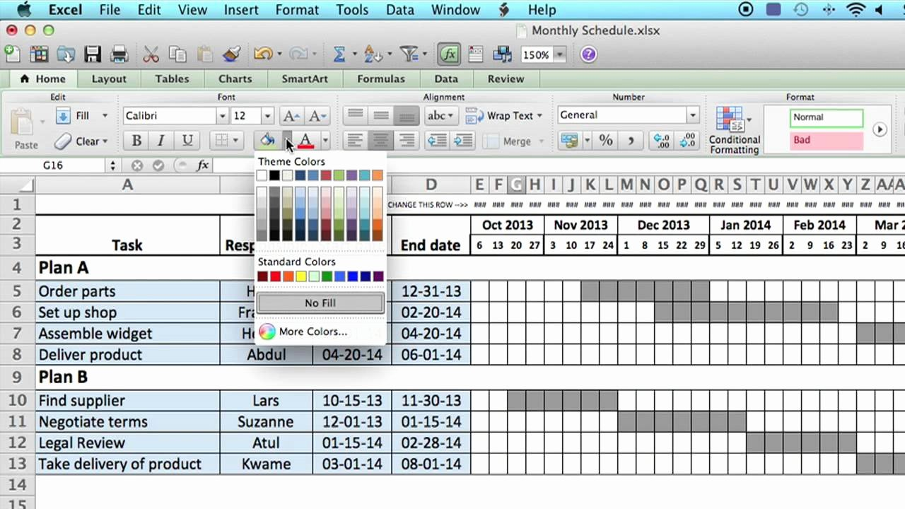 Schedule C Excel Template New How to Use A Monthly Schedule In Microsoft Excel Using