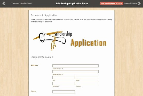 Scholarship Application form Template Elegant 11 Best Images About Application form On Pinterest