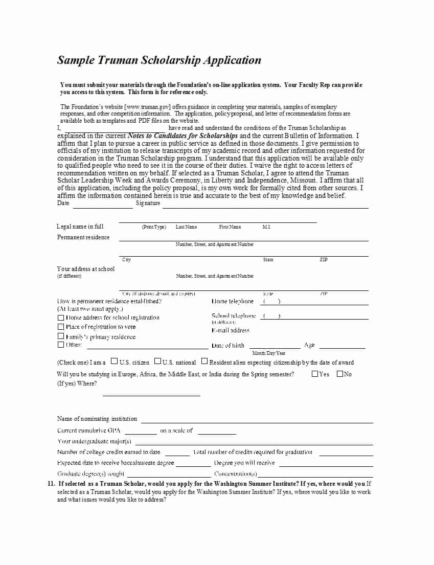 Scholarship Application form Template Inspirational 50 Free Scholarship Application Templates & forms