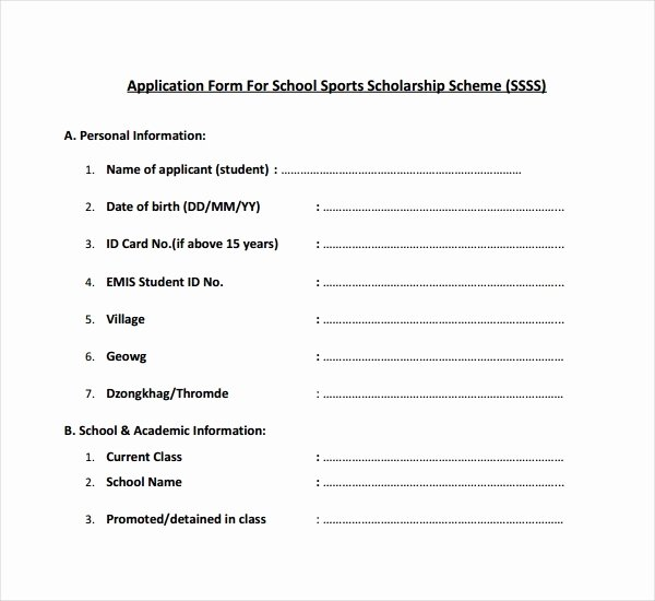 Scholarship Application form Template Inspirational 7 Scholarship Application form Templates Pdf