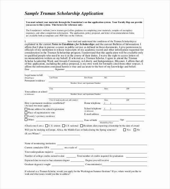 Scholarship Application form Template Lovely Application Templates – 20 Free Word Excel Pdf