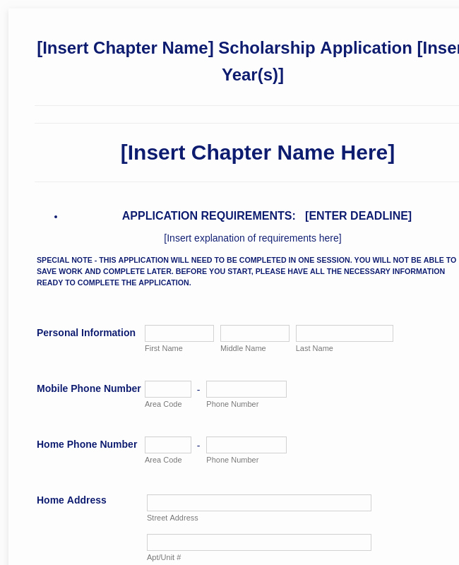 Scholarship Application form Template Lovely General Scholarship Application form Template