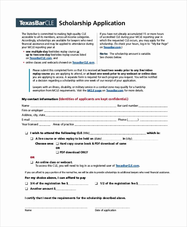 Scholarship Application form Template Unique 41 Application Templates In Pdf