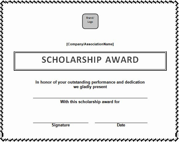 Scholarship Award Certificate Templates Awesome Certificate Template – 41 Free Printable Word Excel Pdf