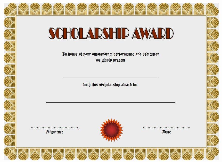 Scholarship Award Certificate Templates Beautiful 10 Scholarship Award Certificate Editable Templates