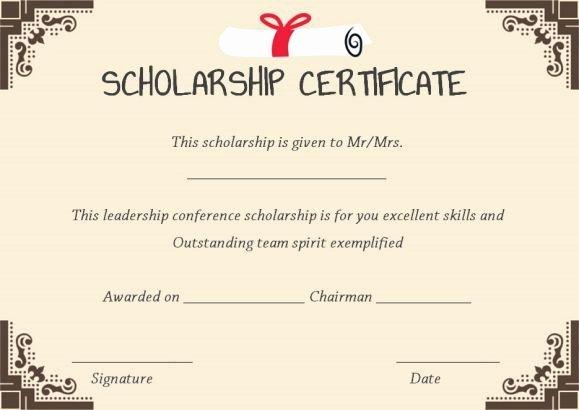 Scholarship Award Certificate Templates Beautiful 11 Best Scholarship Certificate Template Images On