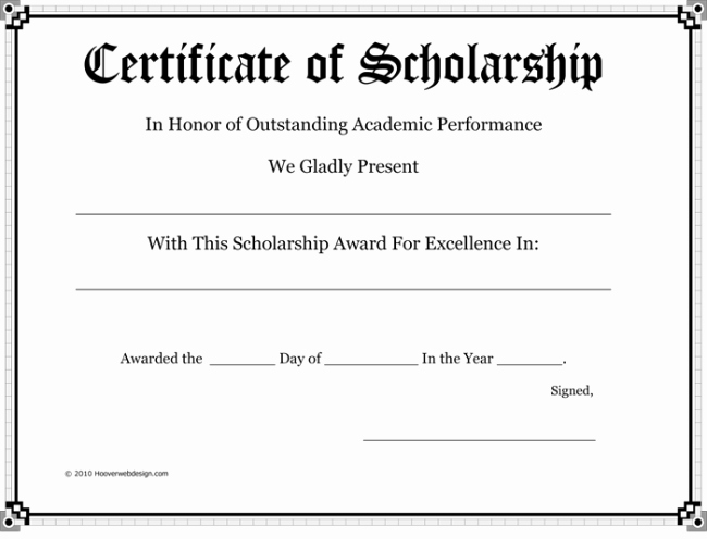 Scholarship Award Certificate Templates Fresh 5 Plus Scholarship Award Certificate Examples for Word and Pdf