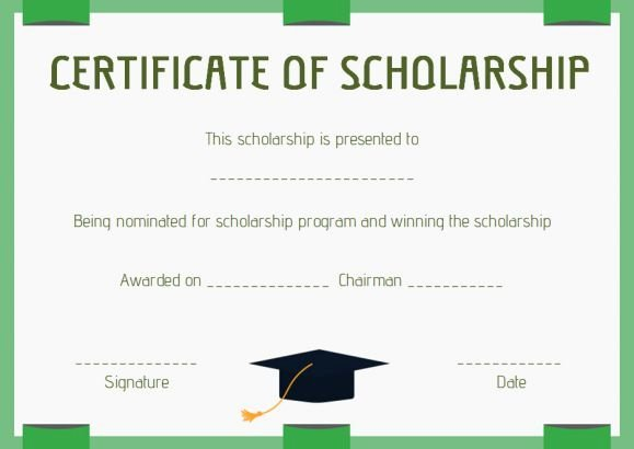 Scholarship Award Certificate Templates Lovely Scholarship Award Certificate Template Word