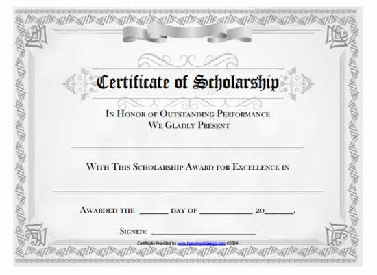 Scholarship Award Certificate Templates Luxury 100 Huge Collection Of Free Certificate Templates Xdesigns