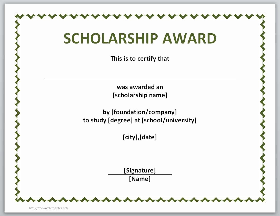 Scholarship Award Certificate Templates Luxury 13 Free Certificate Templates for Word