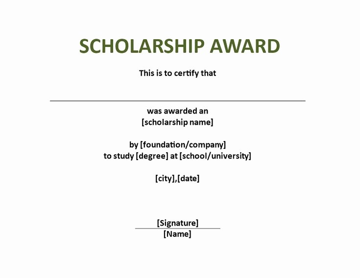 Scholarship Award Certificate Templates Luxury Scholarship Award Certificate Template Download This