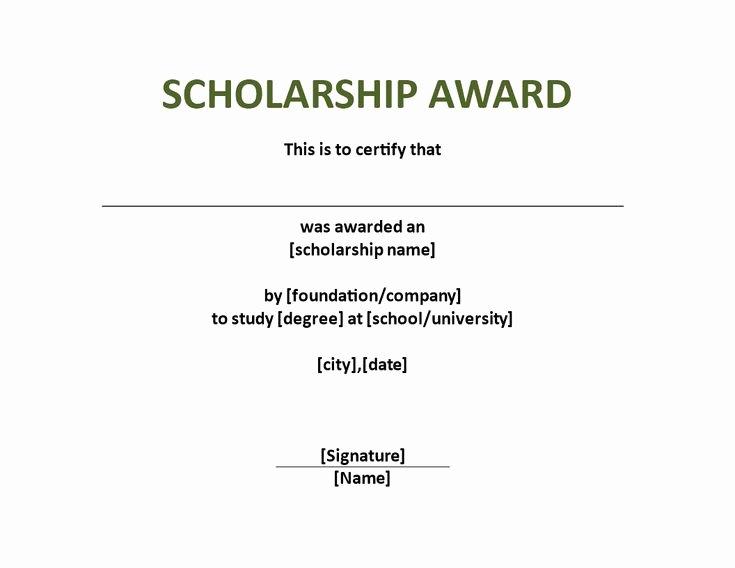 Scholarship Award Certificate Templates Luxury Scholarship Award Certificate Template Download This