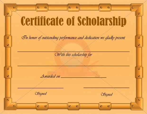 Scholarship Award Certificate Templates Luxury Scholarship Certificate Template