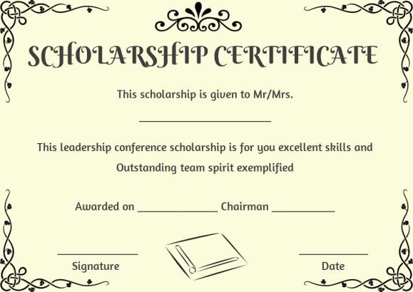 Scholarship Award Certificate Templates New 11 Best Scholarship Certificate Template Images On
