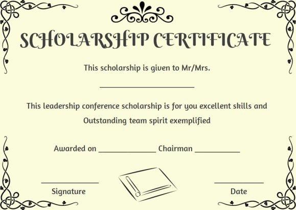 Scholarship Award Certificate Templates New 11 Best Scholarship Certificate Template Images On