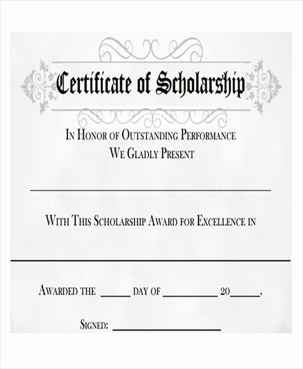 Scholarship Award Certificate Templates New 26 Printable Certificate Templates