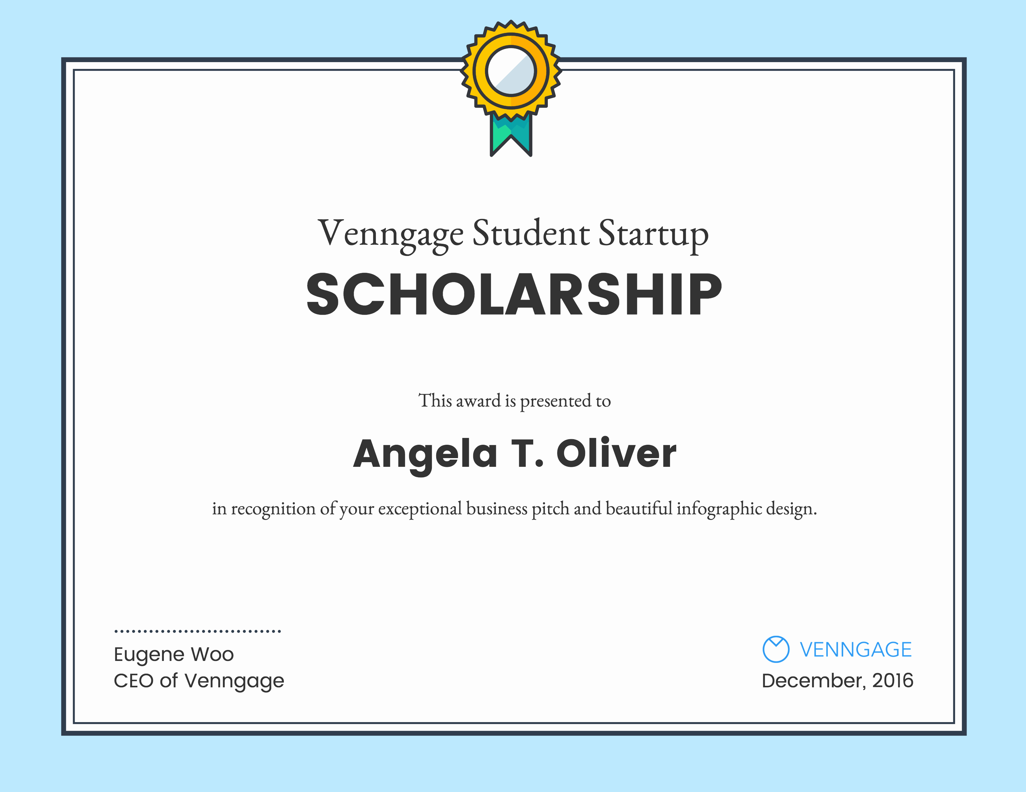 Scholarship Award Certificate Templates New Venngage Student Scholarship Winners Venngage