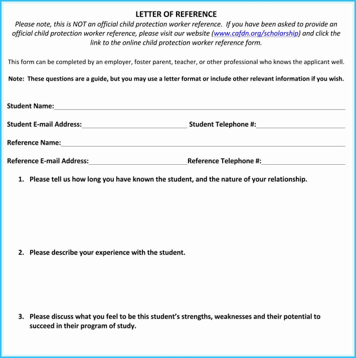 Scholarship Letters Of Recommendation Template Unique Scholarship Reference and Re Mendation Letters Best
