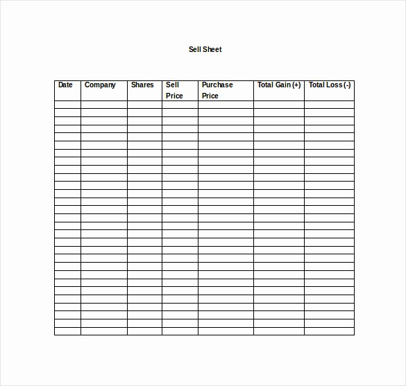 Sell Sheet Template Free Awesome Sell Sheet Template 13 Free Sample Example format