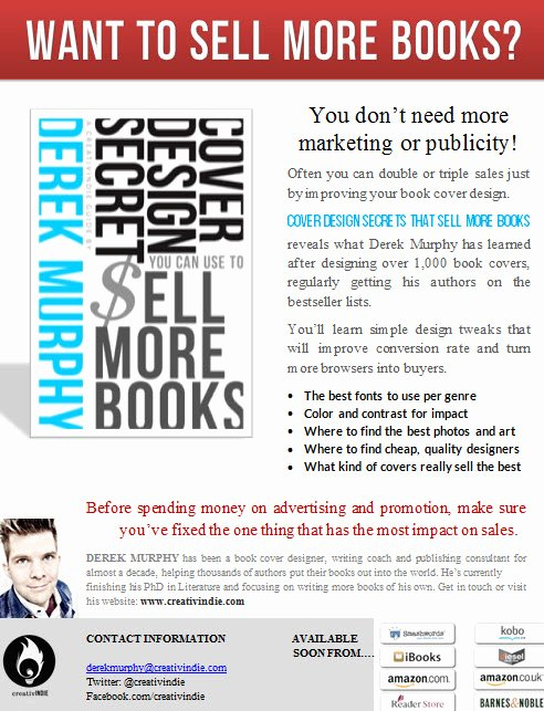 "Sell Sheet Template Free Beautiful How to Make A ""sell Sheet"" for Your Book with Free"