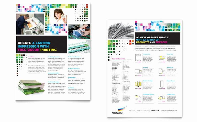 Sell Sheet Template Free Beautiful Printing Pany Datasheet Template Word & Publisher