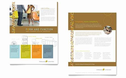 Sell Sheet Template Free Best Of Furniture Store Datasheet Template Design Sample