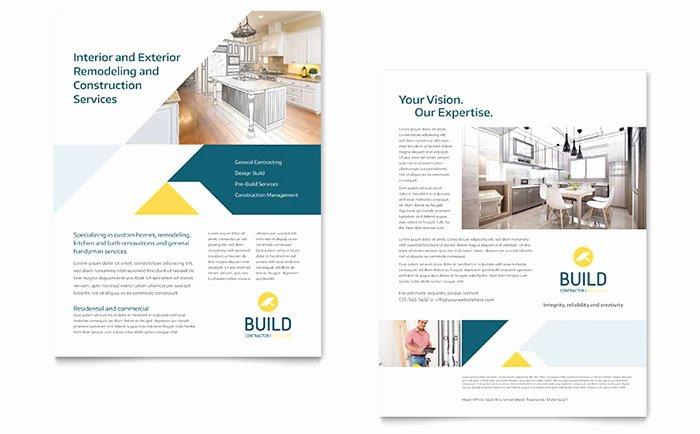 Sell Sheet Template Free Fresh Contractor Datasheet Template Design