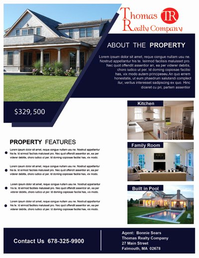 Sell Sheet Template Free Unique Real Estate Marketing