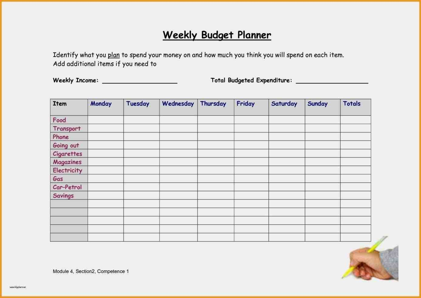 Semi Monthly Budget Template Awesome Monthly Bud Planner Template Free Download