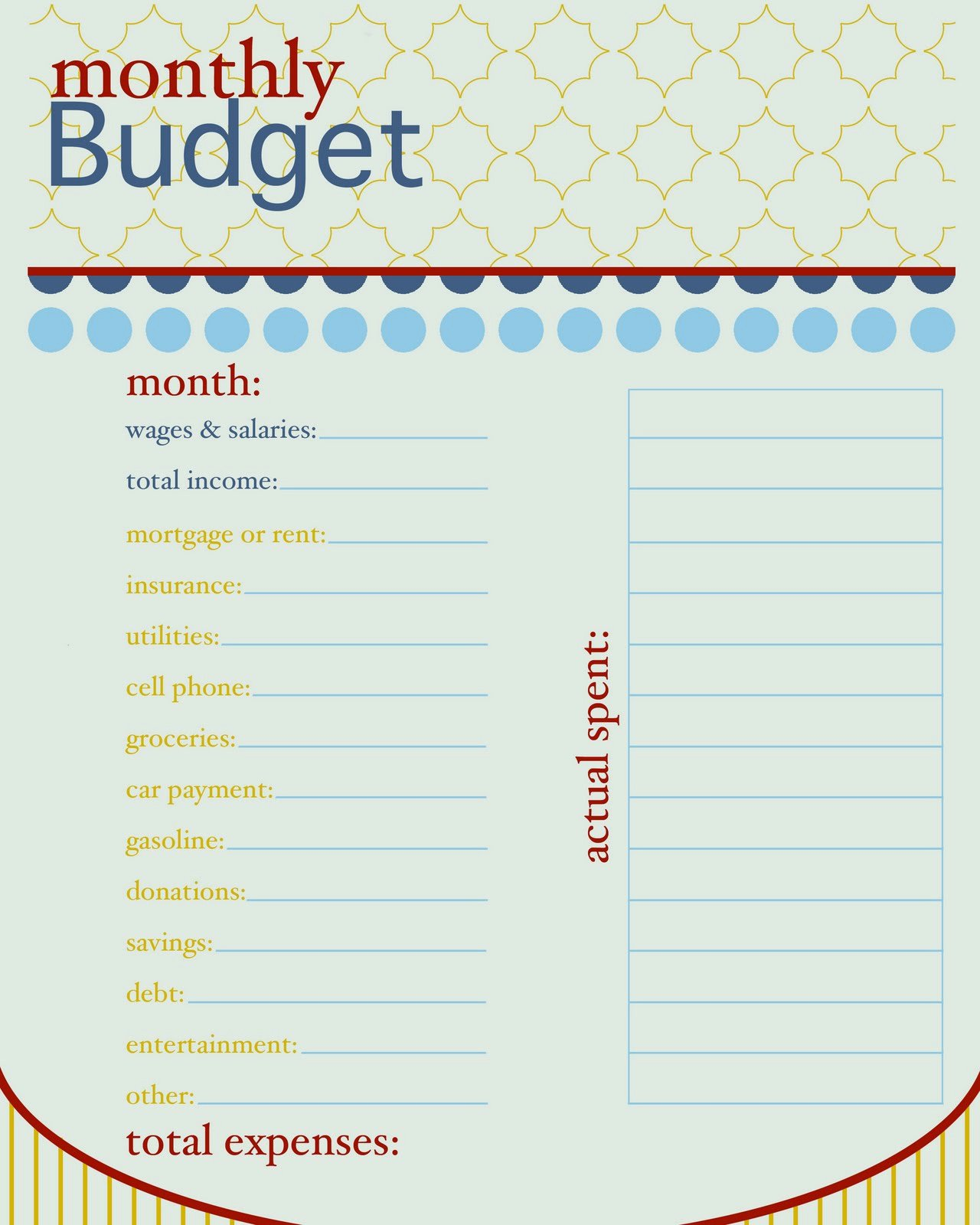 Semi Monthly Budget Template Beautiful Sissyprint Freebie Friday Monthly Bud