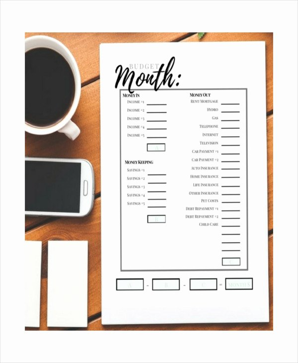 Semi Monthly Budget Template Fresh Printable Monthly Bud Template 21 Free Excel Pdf